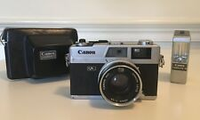 Vintage Canon Canonet QL17 w/40mm 1:1.7 Lens, Canolite D flash, Made in Japan