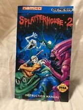 SPLATTERHOUSE 2 Custom Art Video Game Instruction Manual Only For Sega Genesis