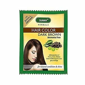 Bakson Sunny Hair Color ( Dark Brown ) (20g)  Delivers Rich, Long-Lasting Color