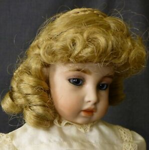 """7""""  / 19cm  WIG FOR ANTIQUE DOLL, DOLL HAIR, DOLL WIG FOR VINTAGE DOLL"""