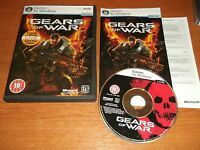 GEARS OF WAR - PC-DVD WITH PAPER MANUAL V.G.C. FAST POST