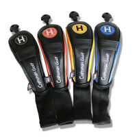 Hybrid Golf Head Cover Rescue UT Covers For Taylormade Callaway 4pcs Long Neck