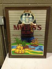 Myers's Rum Platinum White Original Dark Golden Rich Bar Mirror 26.5x20.5 (h100