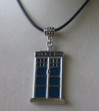 DR WHO TARDIS Necklace BBC TV DOCTOR BLUE CALL BOX PHONE BOOTH PENDANT NECKLACE