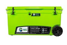 Frosted Frog Green 110 Quart Ice Chest Heavy Duty Insulated Cooler with Wheels