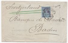 1894 LONDON HOODED 2½d TO BADEN SWITZERLAND MISDIRECTED BADEN BADEN GERMANY 99p!