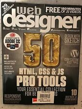 Web Designer Issue 260 2017 50 HTML,CSS&JS Pro Tools ESSENTIAL COLLECTION New!