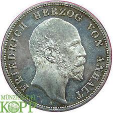 6370) J.21 ANHALT 5 Mark 1896 A Friedrich I. 1871-1904 Regierungsjubiläum