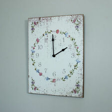 Wooden Bedroom Rectangle Analogue Wall Clocks
