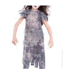 Sweet Screams Ghost Haunted Doll Child Girls Costume M (MEDIUM) 8-10 NEW Zombie