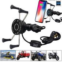 10W Qi Kabellos Motorrad-Ladegerät USB Wireless Charger Phone Holder Halterung