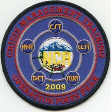 old vintage OPERATION PIKES PEAK COLORADO CO Crisis Management FIRE POLICE PATCH