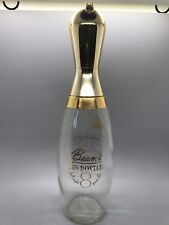 """Collectable Jim Beam Bowling Pin,Clear Glass, Decanter,Gold Toned, 12 """" 1960's"""