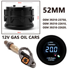 52MM/2'' GAS OIL AUTO 12V Digital AIR FUEL RATIO GAUGE KIT WITH O2 Oxygen Sensor