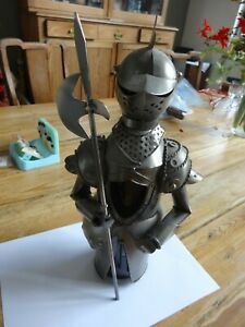 Striking Metal Knight in Armour Wine Bottle Cover