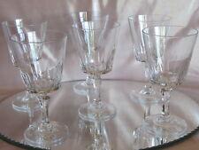 Belle série de six verres à vin cristal d'Arques service Versailles