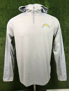 NEW Under Armour Los Angeles Chargers Combine 1/4 Zip Hooded Pullover Men Medium