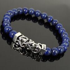 Men's Women Lapis Lazuli Bracelet 925 Sterling Silver Celtic Charm DIYK-268