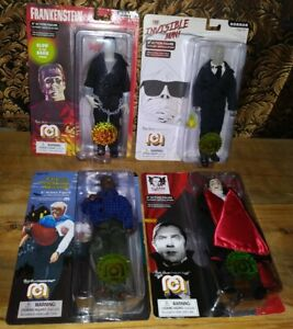 4 Horror Figures Dracula Invisible Man Werewolf Frankenstein Limited Ed Abrahams