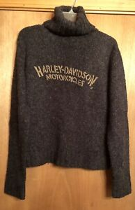 Harley Davidson Women's Sweater Turtle Neck - Med