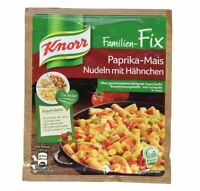 4 x Bag Knorr Fix Paprika-Mais Nudeln mit Hähnchen - New & Fresh from Germany !