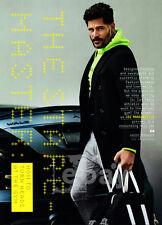 Joe Manganiello 4-pg clipping Sep 2015 The Stare-Master - fashion shoot, gym