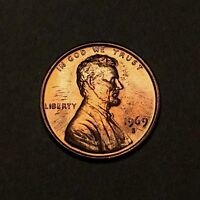 1969-S Lincoln Memorial Cent 1C - Gem Uncirculated - Colorful Toning