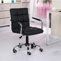 Modern Office High Back Swivel Computer Desk Chair PU Leather Height Adjustable
