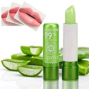 Aloe Vera Natural Lip Balm Long Lasting Moisturizing Temperature Color Changing