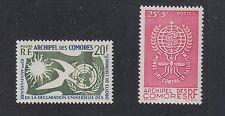 COMORO ISLANDS #44 Human Rights, B1 Anti Malaria SCV $19.00