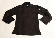 Chef Works Men's Hartford Chef Coat Aw7 Black Size Xs Nwt