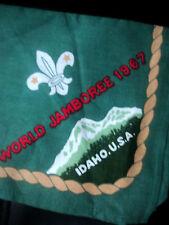 12th Boy Scout World Jamboree 1967 Idaho Neckerchief / Scarf