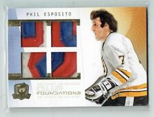 09-10 UD Upper Deck The Cup Foundations  Phil Esposito  /10  Quad Patches  HOF