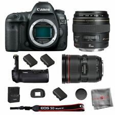 Canon 5D Mark IV Camera BG-E20 Grip EF 24-70mm 2.8L II USM  85mm 1.8 Lens