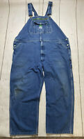 Vintage 90s Liberty Overall Bibs Faded Denim Workwear Pants Size 46 x 30