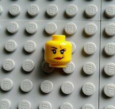 LEGO Yellow Female Minifigure HEAD Scar Over Eye Dual Sided 9467