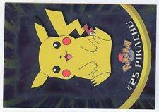 POKEMON MINT English TOPPS Card #25 PIKACHU HOLO METAL