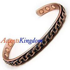 Accents Kingdom Men's Magnetic Copper Bangle Cuff Golf Bracelet Chain Style
