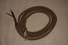 12' BROWN LEAD ROPE w/ PARELLI SNAP FOR NATURAL HORSE TRAINING