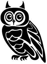 Pegatina vinilo corte BUHO Duracion exterior > 10 años. Vinyl sticker cut OWL