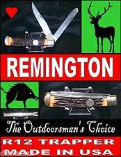 Remington Knife Trapper R12W Staglon Handles Great Walk & Talk Very Nice Knife
