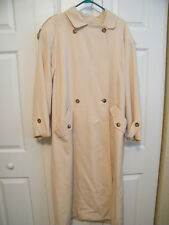 JONES NEW YORK TRENCH COAT md U.S.A.  SZ 12 SOFT WARM YELLOW 100% WOOL, LINED