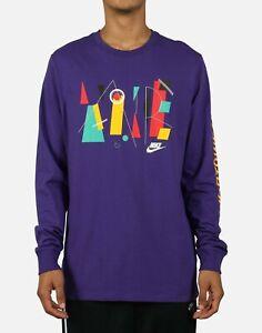 "Nike Sportswear ""Game Changer"" Long Sleeve T-Shirt Purple Men's 2XL BNWT"