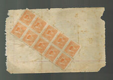 China Revenue Receipt cover  Great Stamps