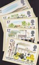 Great Britain GB 1980 Unused Full Set PHQ Stamp Cards No 42 Liverpool Manchester