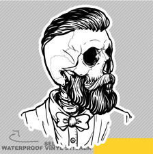 Gentleman Skull Fashion Style Scary Vinyl Sticker Decal Window Car Van Bike 2047