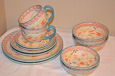 Temp-tations 12- piece Old World Service for 2  Dinnerware Set
