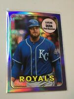 F42059  2018 Topps Heritage Chrome Purple Refractors #THC588 Lucas Duda Royals