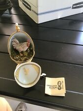 """Rare """"Exclusive Design Painted Egg W/Stand Rooster Signed Linda Szilvasy"""