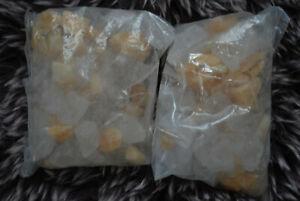 Bärbel/Klaus Drexel--  Dekosteine Bergkristall und Orangencalcit ca.1,3 kg  orig